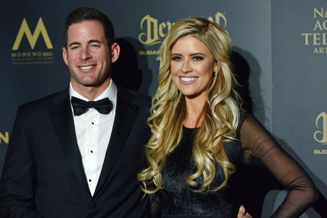 Tarek El Moussa (L), pictured with Christina Anstead, confirmed his relationship with Heather Rae Young three years after his split from Anstead. File Photo by Christine Chew/UPI