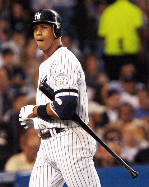 New York Yankees Alex Rodriguez, shown during a game last September, admitted to ESPN that he use performance-enhancing substances while he was with the Texas Rangers. (UPI Photo/John Angelillo)