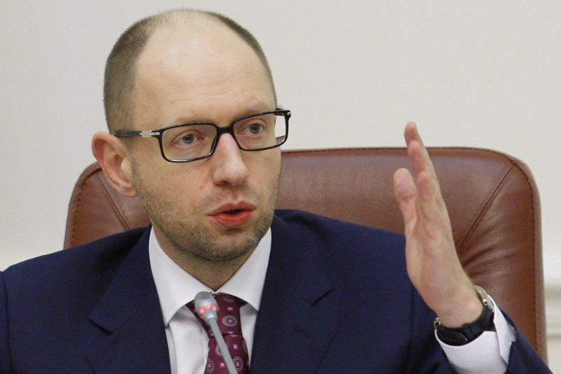 Ukrainian Prime Minister Arseniy Yatsenyuk. (UPI/Ivan Vakolenko)