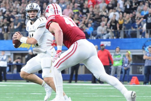 3980cacbf Wisconsin Badgers linebacker Vince Biegel said he is living every Wisconsin  kid s dream by being drafted by the Packers. File photo by Ian Halperin UPI  ...