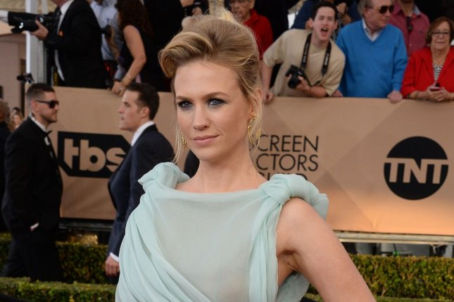January Jones discussed her relationship with Nick Viall in an interview Tuesday. File Photo by Jim Ruymen/UPI