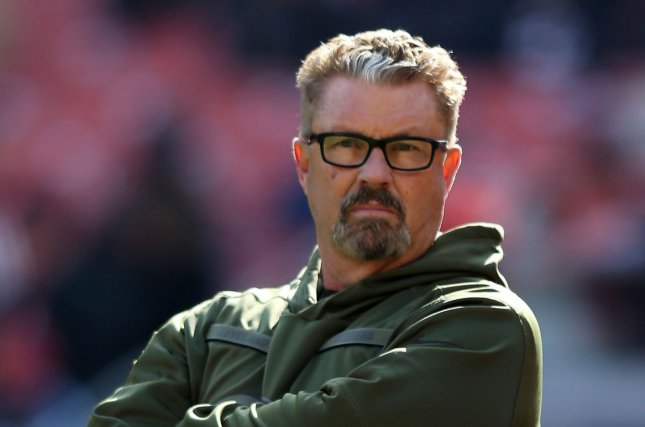 New York Jets defensive coordinator Gregg Williams (pictured), who was a key figure in the New Orleans Saints' Bountygate scandal in 2012, becomes the first member of Adam Gase's coaching staff to be fired this season. File Photo by Aaron Josefczyk/UPI