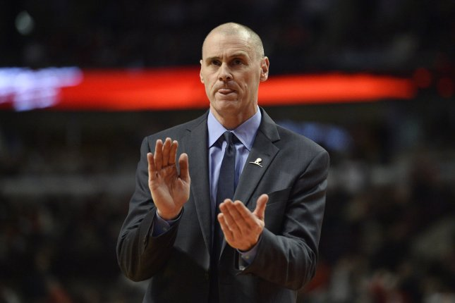 Dallas Mavericks head coach Rick Carlisle missed Friday's game against the New York Knicks because of the positive COVID-19 test. File Photo by Brian Kersey/UPI