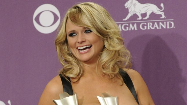 Singer Miranda Lambert appears backstage with the Female Vocalist of the Year Award, Singer Record of the Year Award and Song of the Year Award she garnered at the 48th annual Academy of Country Music Awards at the MGM Hotel in Las Vegas, Nevada on April 7, 2013. UPI/David Becker