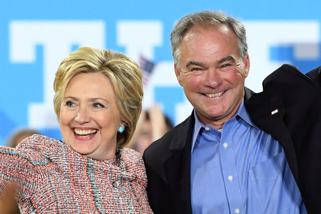 Democratic presidential nominee Hillary Clinton announced Virginia Sen. Tim Kaine as her running mate late Friday. Kaine, a moderate, is a popular figure in Virginia and the state's former governor. Photo by Kevin Dietsch/UPI