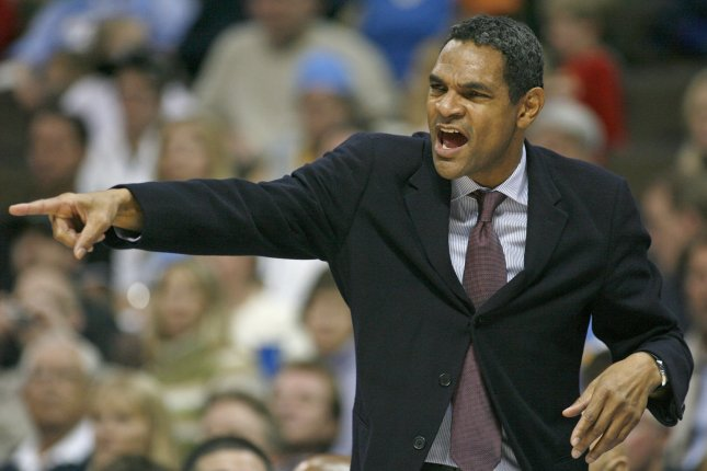 Thunder assistant coach Maurice Cheeks gestures to the team. Cheeks was hospitalized on Thursday. File photo by Gary C. Caskey/UPI