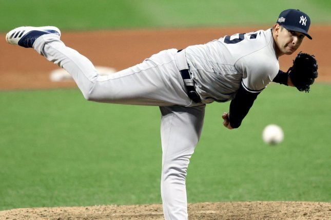 The Cincinnati Reds added former New York Yankees pitcher Luis Cessa (2.82 ERA) to their bullpen through a trade late Tuesday. File Photo by Aaron Josefczyk/UPI