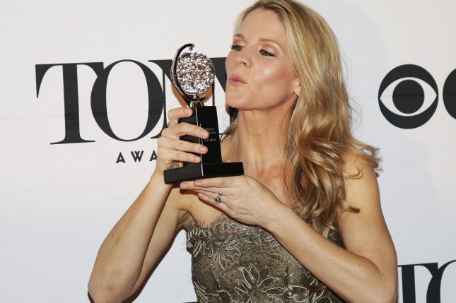 Best Actress in a Musical winner Kelli O'Hara arrives in the press room at the 69th annual Tony Awards on June 7, 2015 in New York City. Photo by John Angelillo/UPI
