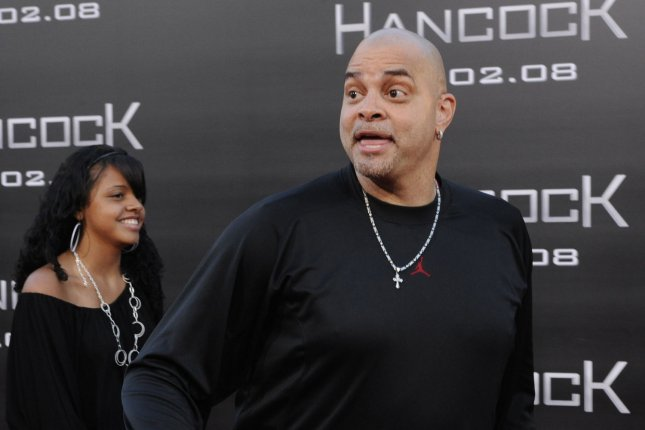 Sinbad at the Los Angeles premiere of 'Hancock' in 2008. The actor and comedian underwent spinal fusion surgery Tuesday. File Photo by Jim Ruymen/UPI