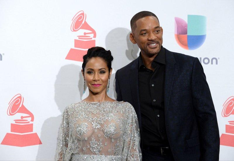 Jada Pinkett Smith and husband Will Smith at the Latin Grammy Awards on Nov. 19. Photo by Jim Ruymen/UPI