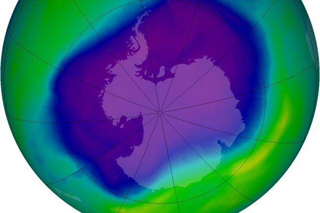 New research suggests the recovery of the ozone hole above Antarctic could be jeopardized by growing concentrations of unregulated ozone-eating chemicals. Photo by UPI/NASA