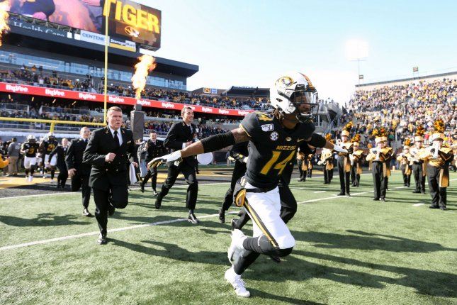 The Missouri Tigers, sitting at 5-6, could have become bowl eligible with a win against Arkansas this week. Photo by Bill Greenblatt/UPI
