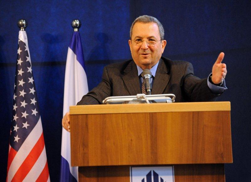 Israeli Defense Minister Ehud Barak speaks at a news conference in Tel Aviv, Israel, March 24, 2011. UPI/Debbie Hill