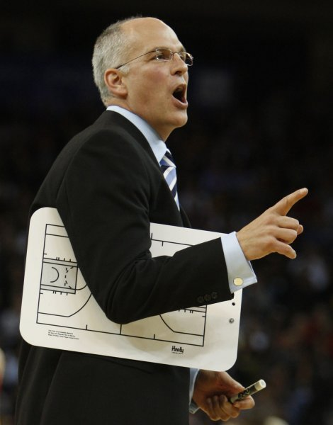 Toronto Raptors Coach Jay Triano, shown during a game in December, was given a three-year contract by the NBA team Monday. (UPI Photo/ Terry Schmitt)