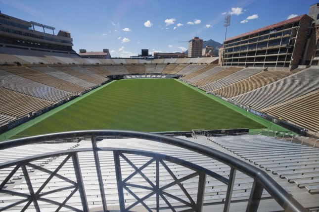 Colorado chancellor Phil DiStefano, athletic director Rick George and head football coach Mike MacIntyre each received penalties for their handling of domestic violence allegations against former assistant football coach Joe Tumpkin. File photo UPI/Gary C. Caskey