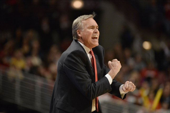 Houston Rockets head coach Mike D'Antoni yells to his team during the third quarter against the Chicago Bulls on January 20, 2013 at the United Center in Chicago. File photo by Brian Kersey/UPI