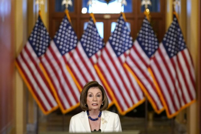 House Speaker Nancy Pelosi announces Thursday the chamber will file articles of impeachment against President Donald Trump. Photo by Kevin Dietsch/UPI