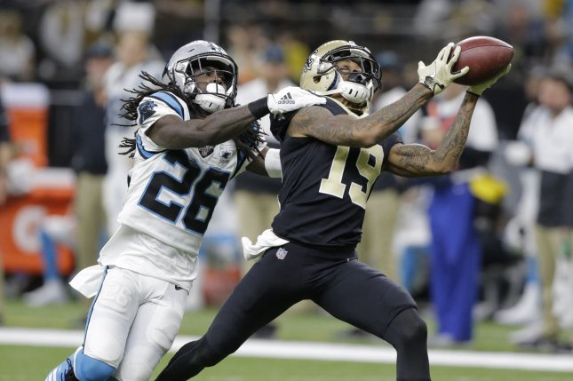 Former Saints wide receiver Ted Ginn Jr. (19) spent the last three seasons in New Orleans. File Photo by AJ Sisco/UPI