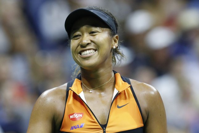 Naomi Osaka (pictured) will face either 23-time major champion Serena Williams or two-time major champion Victoria Azarenka in Saturday's final. File Photo by John Angelillo/UPI