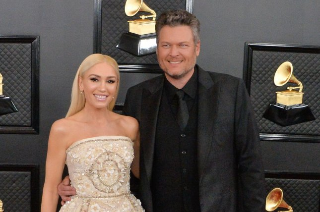 Blake Shelton (R) and Gwen Stefani will return as coaches in The Voice Season 19, coming to Hulu in October. File Photo by Jim Ruymen/UPI