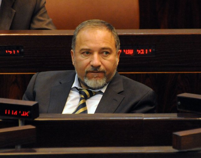 Israeli Foreign Minister Avigdor Lieberman attends a session in the Knesset, the Israeli Parliament, to vote on the 2011 budget, in Jerusalem, December 29, 2010. UPI/Debbie Hill