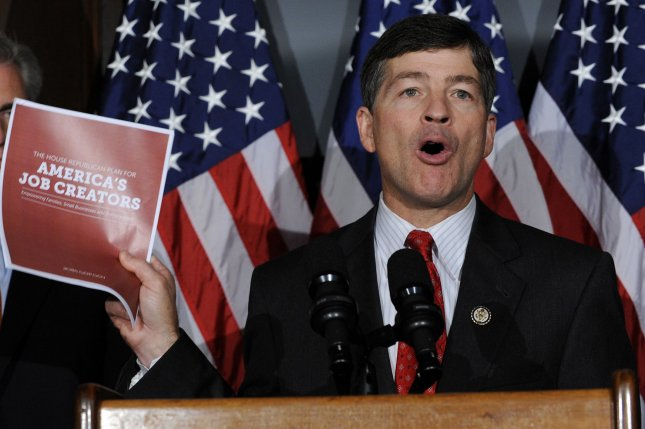 Rep. Jeb Hensarling, R-TX, Chairman of the House Financial Services Committee, says the Dodd-Frank Act's Volcker Rule is a solution is search of a problem. (File/UPI/Roger L. Wollenberg)