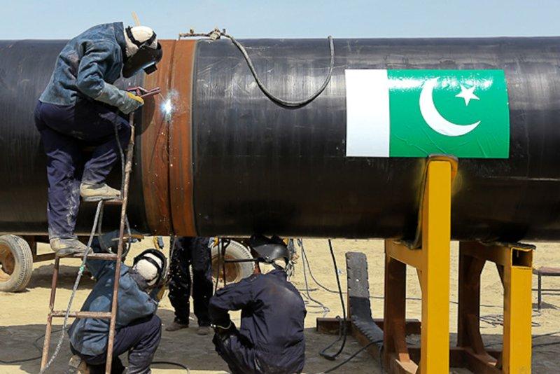 Pakistan reviewing momentum of natural gas imports. UPI/Hamid Forotan