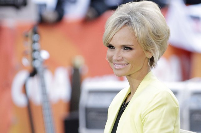 Kristin Chenoweth appears on stage before Janelle Monae performs on the NBC Today Show at Rockefeller Center in New York City on April 9, 2014. UPI/John Angelillo