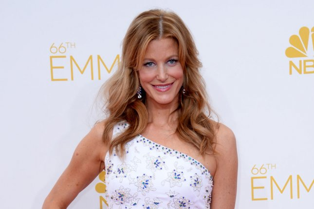 Actress Anna Gunn arrives at the Primetime Emmy Awards at the Nokia Theatre in Los Angeles on August 25, 2014. File Photo by Jim Ruymen/UPI