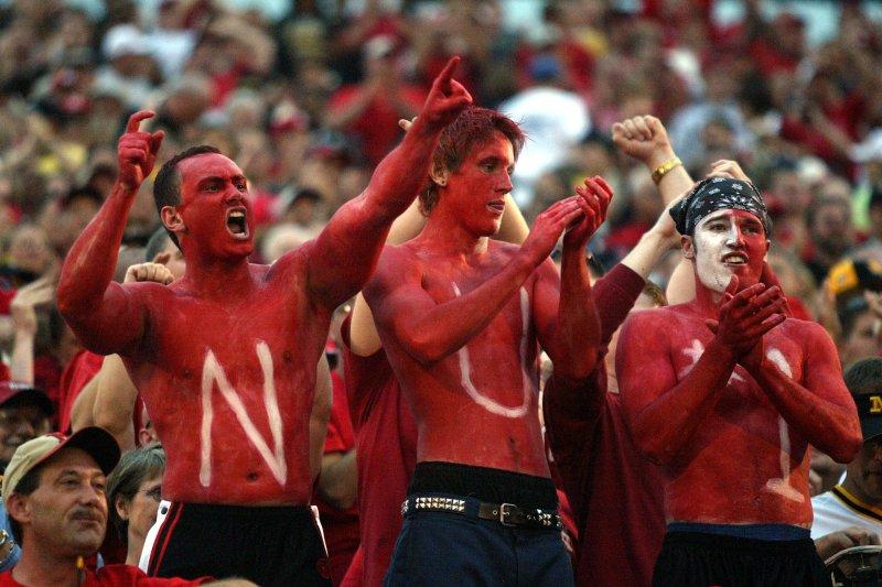 Nebraska fans get others cheering for the Cornhuskers. File photo Bill Greenblatt/UPI
