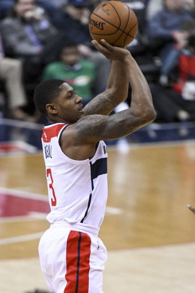 Bradley Beal and the Washington Wizards square off with the Toronto Raptors on Thursday. Photo by Mark Goldman/UPI