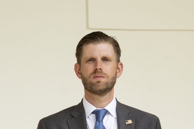 Eric Trump is among those named in a filing Monday to compel investigatory subpoena over President Donald Trump's business allegedly inflating its assets. File Photo by Stefani Reynolds/UPI