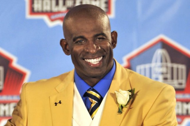 Deion Sanders, who left his job as an NFL Network analyst in August, will take over as the head football coach at Jackson State this spring. File Photo by Dave Richard/UPI