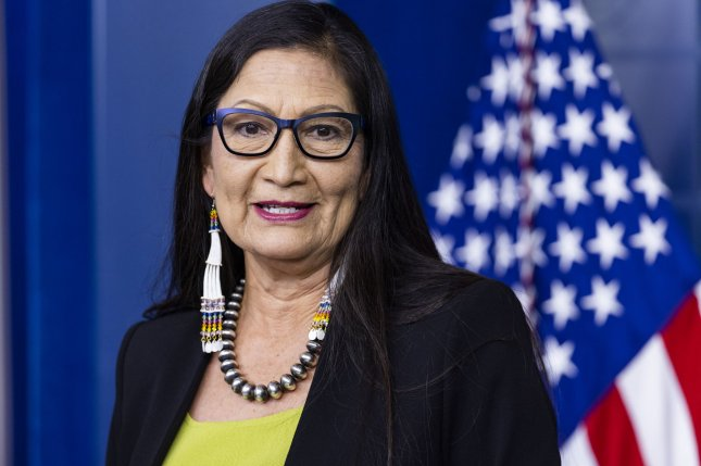 U.S. Secretary of the Interior Deb Haaland on Tuesday reversed multiple policies instituted by the Trump administration, which the agency said undermined the ability of Tribes to establish and consolidate their homelands. Photo by Jim Lo Scalzo/UPI