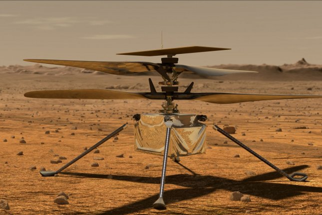 This is an illustration of NASA's Ingenuity Mars helicopter on Mars, where the space agency has decided to extend the aircraft's mission. Image courtesy of NASA
