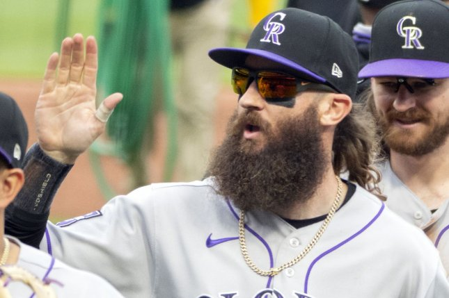 Colorado Rockies right fielder Charlie Blackmon recorded two hits and an RBI in a win over the Miami Marlins on Wednesday in Miami. File Photo by Archie Carpenter/UPI