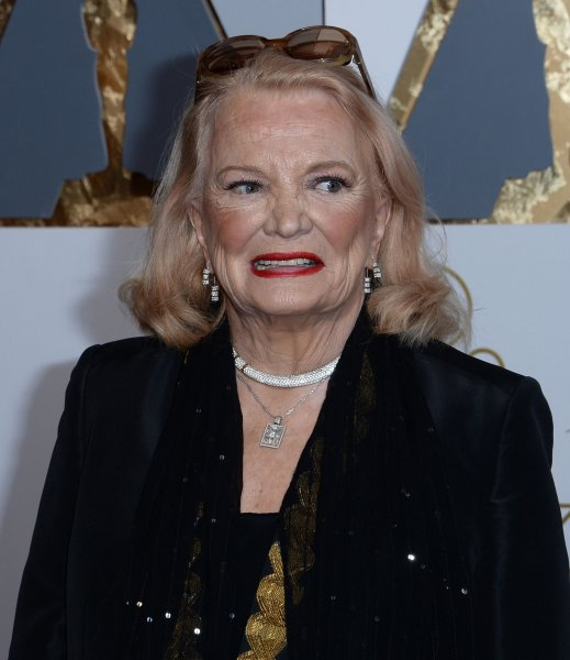 Gena Rowlands arrives on the red carpet for the 88th Academy Awards in Los Angeles on February 28, 2016. The actor turns 91 on June 19. File Photo by Jim Ruymen/UPI
