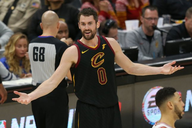 Cleveland Cavaliers forward Kevin Love. File photo by Aaron Josefczyk/UPI