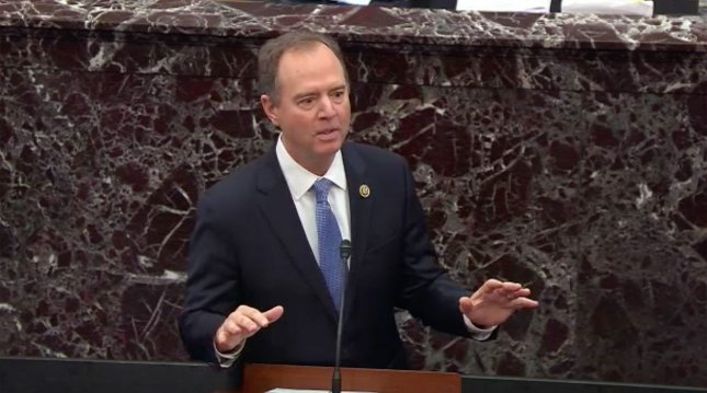 Rep. Adam Schiff on Sunday said he would not comment on whether the House will subpoena John Bolton in President Donald Trump's impeachment but said the truth will come out. Photo by UPI