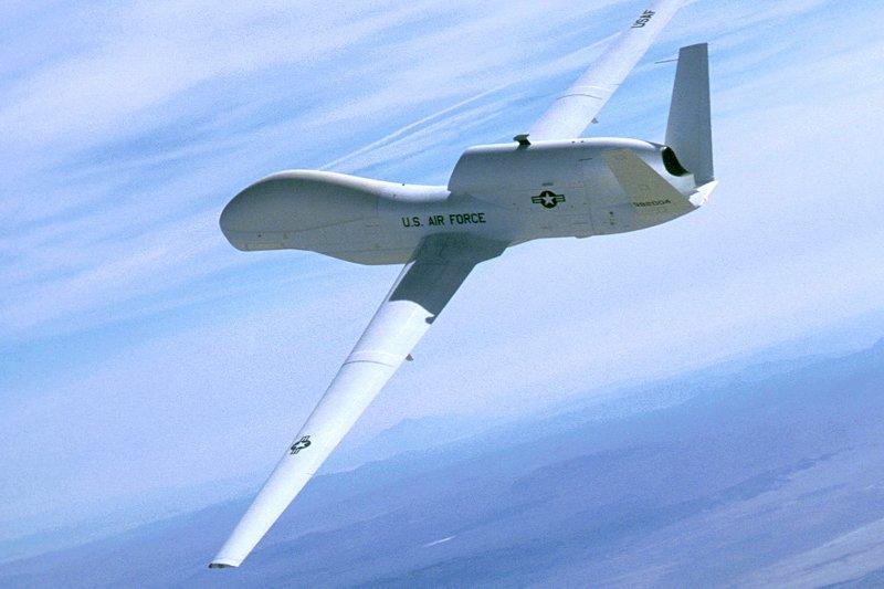 The U.S. military's RQ-4 Global Hawk was deployed to the Korean Peninsula Sunday, according to online aviation tracker Radarbox. File Photo by Northrop Grumman/UPI