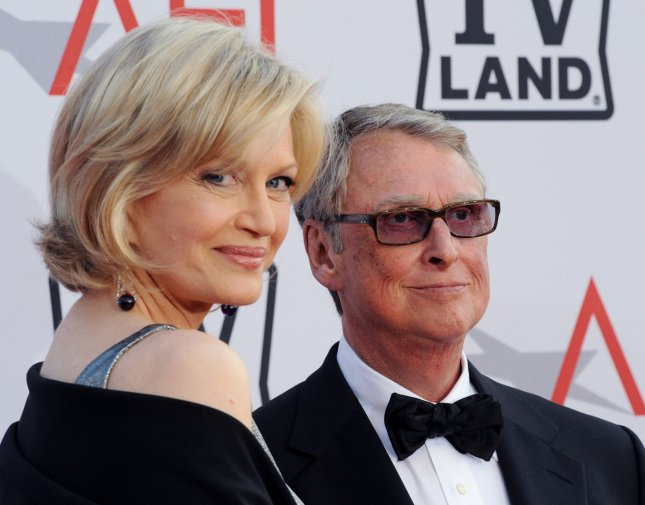 Mike Nichols and his wife Diane Sawyer arrive at the AFI Lifetime Achievement Awards honoring Nichols, presented by TV Land at Sony Pictures Studios in Culver City, California on June 10, 2010. UPI/Jim Ruymen