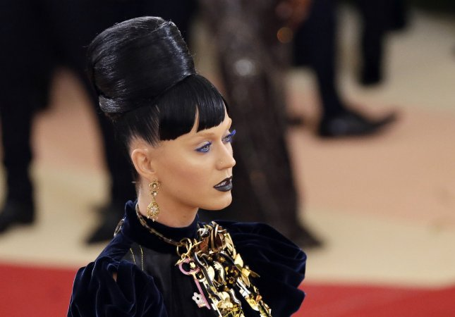 Katy Perry arrives on the red carpet at the Costume Institute Benefit at The Metropolitan Museum of Art celebrating the opening of Manus x Machina: Fashion in an Age of Technology in New York City on Monday. Photo by John Angelillo/UPI