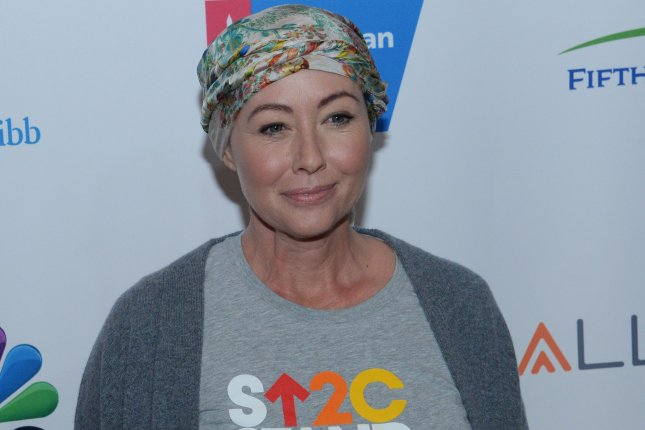 Actress Shannen Doherty can now be seen in the trailer for the Heathers TV show. File Photo by Jim Ruymen/UPI