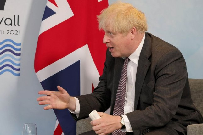British Prime Minister Boris Johnson is set to announce a four-week delay in lifting COVID-19 lockdown measures in the England. Photo by Andrew Parsons/No 10 Downing Street/UPI