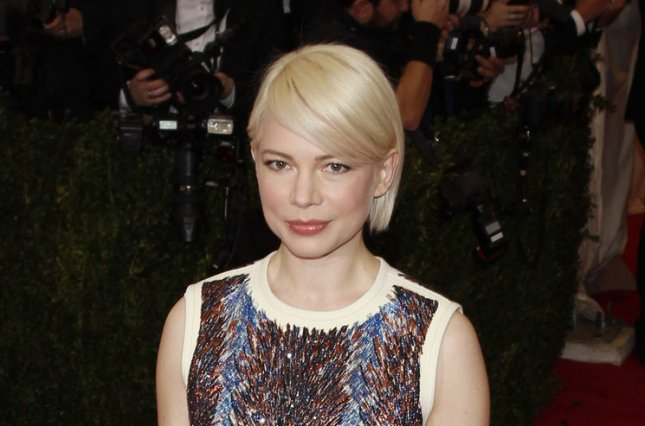 Michelle Williams at the Costume Institute Benefit at the Metropolitan Museum of Art on May 5, 2014. The actress and daughter Matilda Ledger attended a play together Sunday. File photo by John Angelillo/UPI