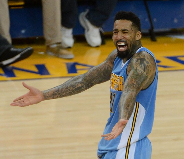 Wilson Chandler scored a career-high 36 points and grabbed 12 rebounds, Danilo Gallinari had 18 points, and the Nuggets beat the Kings 108-96 on Monday night. File Photo by Terry Schmitt/UPI