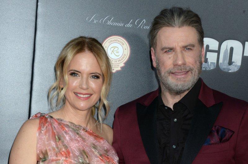 John Travolta (R) and Kelly Preston attend the New York premiere of Gotti on Thursday. Photo by Dennis Van Tine/UPI