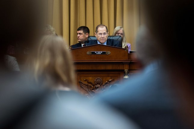 House judiciary committee Chairman Jerry Nadler speaks during a May 21 hearing on the Justice Department investigation into Russian electoral interference. File Photo by Kevin Dietsch/UPI