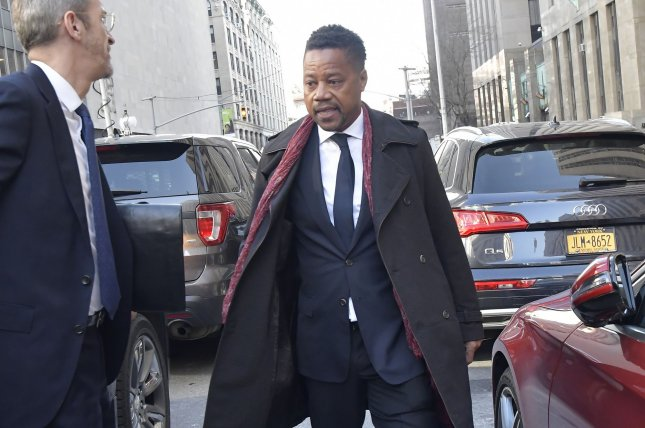 Actor Cuba Gooding Jr. departs Manhattan State Supreme Court on Wednesday after a judge set his sexual misconduct trial for April 21. Photo by Louis Lanzano/UPI