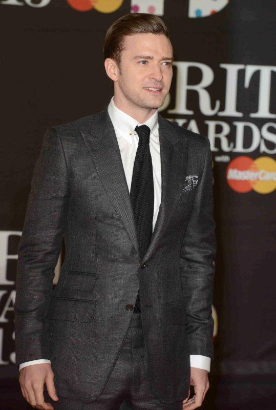 Singer Justin Timberlake in London, Feb. 20, 2013. UPI/Paul Treadway